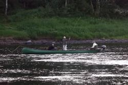 Photo of canoe fishing